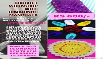 Crochet Workshop for beginners at JustBooksKharkhana
