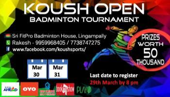 Koush Open Badminton Tournament - 2019