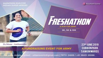 FRESHATHON Run For Indian Super Heroes