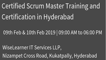 Best Scrum Master Training and Certification in Hyderabad with best experienced trainer