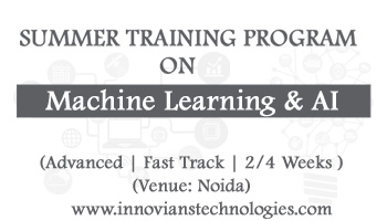 Summer Training on Machine Learning and AI at Noida