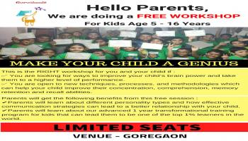 Make Your Child Successful - Free Workshop for kids aged 5 to 16 yrs