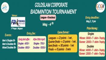 GOLDSLAM CORPORATE BADMINTON TOURNAMENT