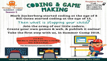 Coding  Game Making at Orange Octopus