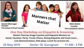 Manners that Matter: Workshop for kids on Etiquette and Grooming