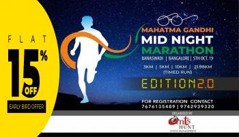 Mahatma Gandhi Midnight Marathon   Edition 2.0