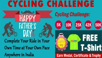 Fathers Day Cycling Challenge 2019 and GET Free T-shirt