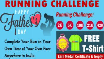 Fathers Day RUN Challenge 2019 GET Free T-shirt