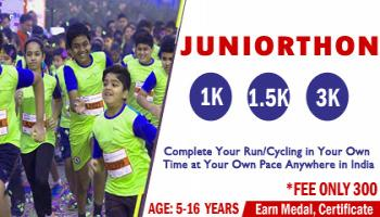 Juniorthon Run or Cycling age under 16