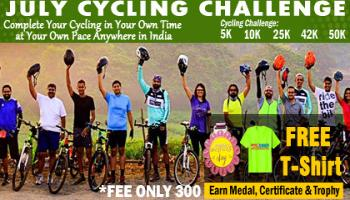 July Challenge- Cycling-5K 10K 42K 50K All over India