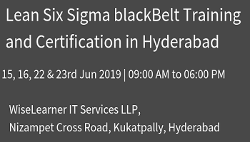 Training and Certification for Six Sigma  Black Belt in Hyderabad with experienced trainers