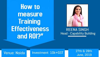 Happening Again, Two Days solution based program on Measuring Training Effectiveness and ROI