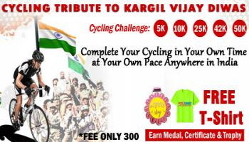 Cycling for Kargil Vijay Diwas