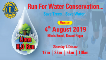 Lions H2O RUN - For Water Conservation