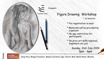 Figure drawing workshop with Pragyan Kranti