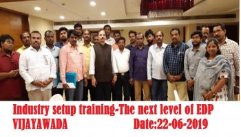 INDUSTRY SETUP TRAINING  THE NEXT LEVEL OF EDP Vijayawada 20 7 2019