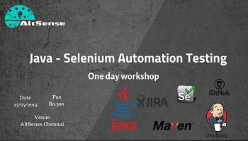 Java- Seleniuim Automation Testing Workshop