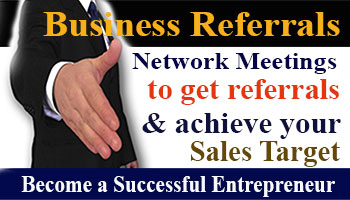 Business Referral Network Meeting to promote and grow your business