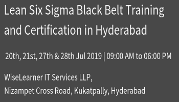 Training and Certification for Six Sigma Black Belt with experienced trainers