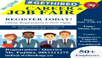 Career and Job Fair for Digital Marketing aspirants