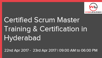 Best Certified Scrum Master Training and Certification with best tutors