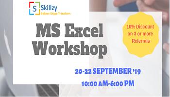 MS Excel Workshop 3