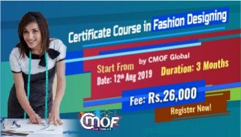 Certificate Course in Fashion Designing by CMOF Global