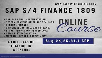 SAP S/4 HANA Finance Certification 4 days Classroom/ Online Workshop in Pune