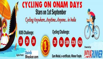 Cycling on Onam Days Starts from Ist September 2019