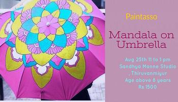 Mandala painting on Umbrella
