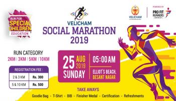 Velicham Social Marathon 2019