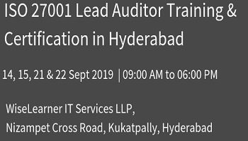 Best Training and Certification for ISO 27001 Lead Auditor with well experienced trainers