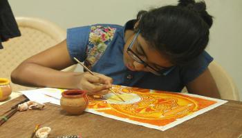 7 Days workshop on Kerala Mural Painting