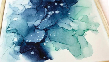 Alcohol Ink Art Workshop with Marzia Ali