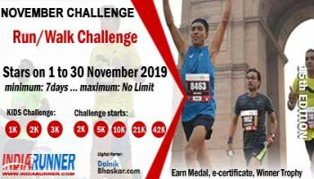 India Virtual Running/Walking November Challenge 2019