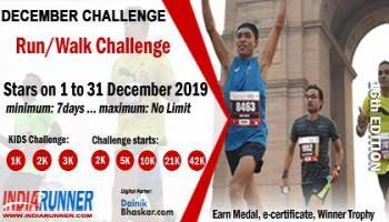 India Virtual Running/Walking December Challenge 2019