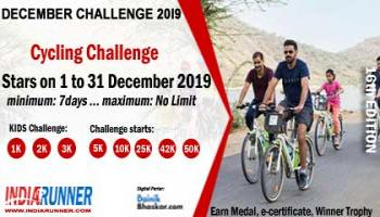 India Virtual Cycling December Challenge 2019