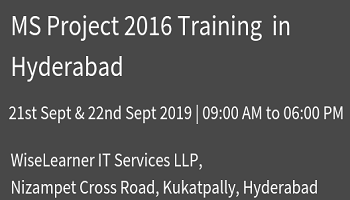 MS PROJECT 2016 Training Program with best trainer