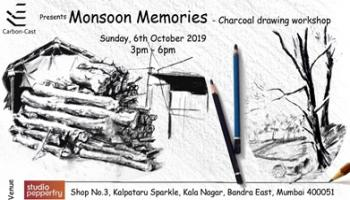Monsoon Memories- a charcoal drawing workshop by Pragyan