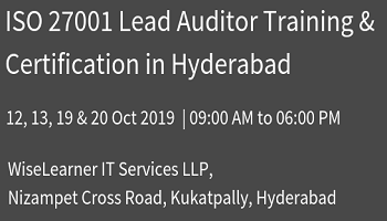 Best Training and Certification for ISO 27001 Lead Auditor with experienced tutors