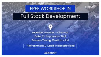 Free One-day workshop under Full Stack Development