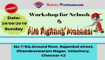 Free workshop For Nebosh and Fire Fighting Practical Training