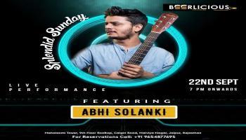 LIVE MUSIC PERFORANCE BY ABHI SOLANKI