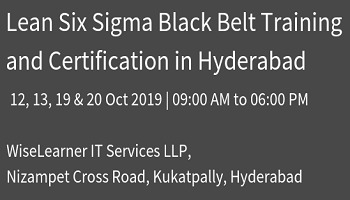Training and Certification for Six Sigma Black Belt with best tutors
