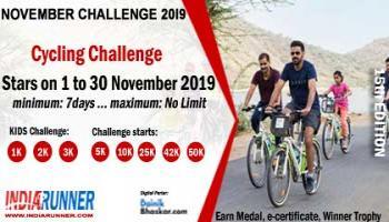 India Virtual Cycling November Challenge 2019