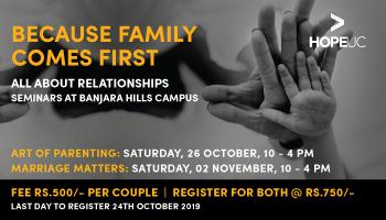 Art of Parenting and Marriage Seminars | HopeUC, India