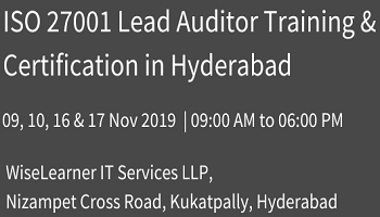 Best Training and Certification for ISO 27001 Lead Auditor with best trainers