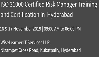 ISO 31000 Certified Risk Manager Training and Certification in hyderabad with experienced tutors