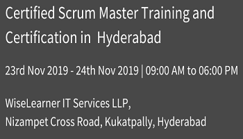 Best Certified Scrum Master Training and Certification with experienced trainers in Hyderabad