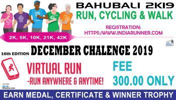 Bahubali 2K19 : Run/Cycling/Walk Challenges